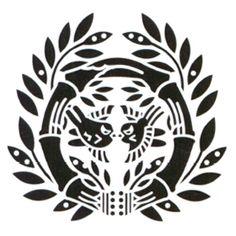 伊達政宗の家紋(竹に雀(仙台笹))