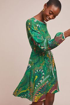 Janis Dress, presented by Anthropologie. As the days become warmer, trade in your coziest sweater dress for a floaty frock instead. Irish Warrior, Boho Fashion, Womens Fashion, Leopard Dress, Floral Tunic, Peasant Blouse, Lace Tops, Boho Dress, Green Dress