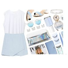 A Common Space  - SHOP by monmondefou on Polyvore featuring polyvore, fashion, style, Mixx Shuz, Fendi, Cartier, Maison Margiela, Christian Dior, Stila, Topshop, Marc Jacobs, By Terry, First Aid Beauty, Essie, white, Blue, pastel and pastels