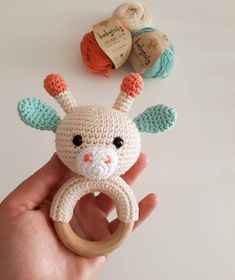 With the Amigurumi rattle and baby-knit weave models, you can grow your babies both with your own labor and. Crochet Baby Toys, Crochet Teddy, Crochet Patterns Amigurumi, Crochet Animals, Baby Knitting, Knit Crochet, Baby Rattle, Handmade Toys, Crochet Projects
