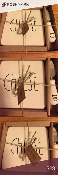 Rae Dunn Cheese/Cut Plate Set Great gift. All items by Rae Dunn are uniquely flawed. All items are brand new without scratches or cracks. rae dunn Other