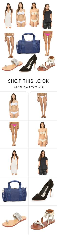 """""""Beautiful beach girls"""" by donna-wang1 ❤ liked on Polyvore featuring Zimmermann, Mikoh, Susana Monaco, Deux Lux, Alice + Olivia, Mystique, Tory Burch and vintage"""