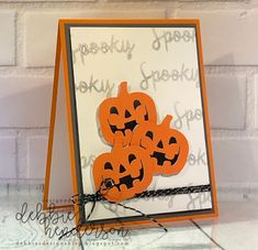 Theme Party Ideas for Your Next Bash Halloween Paper Crafts, Halloween Cards, Easy Halloween, Halloween Pumpkins, Halloween 2019, Halloween Designs, Halloween School Treats, Stampin Up Paper Pumpkin, Pumpkin Cards