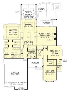 Conceptual Design 1341 is Now In Progress: Leave a comment about this small #Craftsman plan and tell us what you think! http://houseplansblog.dongardner.com/house-plan-on-drawing-board-plan-1341/
