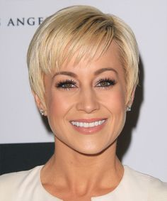 Kellie Pickler - Formal Short Straight Hairstyle. Try on this hairstyle and view styling steps! http://www.thehairstyler.com/hairstyles/formal/short/straight/Kellie-Pickler-short-tapered-formal-hairstyle