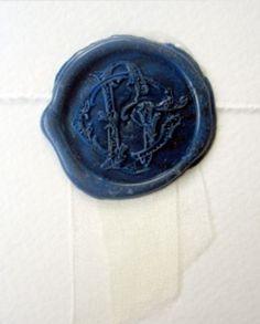 Indigo Blue Wax Seal.