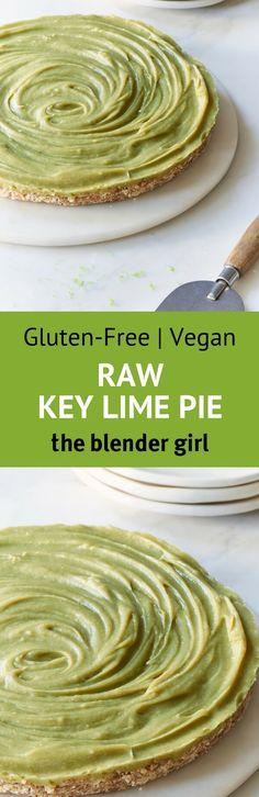 Raw Key Lime Pie   Vegan Key Lime Pie   The Blender Girl #keylimepie #vegankeylimepie