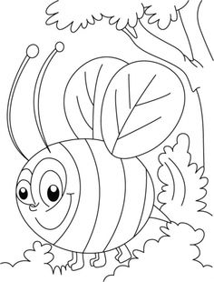 Get Free Bee Coloring Pages For Kids To Print And Color