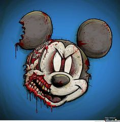 Discovered by One more girl♕. Find images and videos about mickey mouse and zombie on We Heart It - the app to get lost in what you love. Zombie Disney, Disney Horror, Dark Disney, Disney And More, Arte Horror, Horror Art, Zombie Tattoos, Mickey Mouse, Simpsons