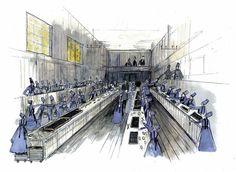 Les Mis (2012) |  Oscar-nominated Production Designer Eve Stewar'ts sketch of Jean Valjean's Trinket Factory.