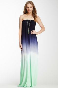 Love this strapless maxi dress