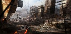 Ravaged City by sundragon83. #postapocalyptic #Art #gosstudio .★ We recommend Gift Shop: http://www.zazzle.com/vintagestylestudio ★