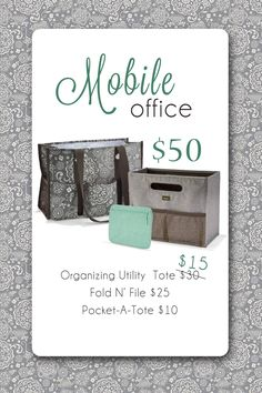 September Customer Special - For every $35 you spend, get an Organizing Utility Tote for 1/2 price.