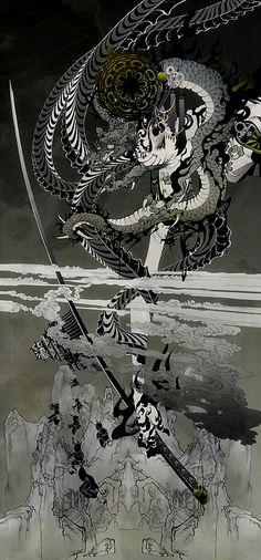 aya kato - Osaka 2006  cheval noir