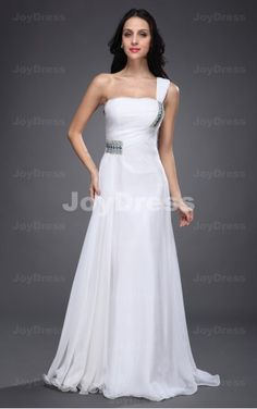 formal dresses in uk,Crystal A-line One Shoulder Floor-length Dress
