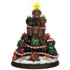 Dachshund Family Christmas Tree by Mary Badenhop