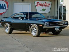 1971 Dodge Challenger... Mom & Dad gave me their yellow with black roof 1972 Challenger. What a thrill!