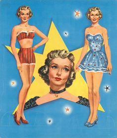 Diana Lynn paper dolls / eBay