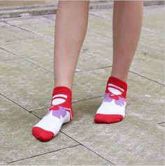 MYORED female cartoon sailor moon ankle socks women cotton invisible bow tie short sock girls lady cute cat animal sock slippers