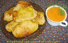W Mojej Kuchni Lubię.. - In My Kitchen I like ..: gołąbki cielęce w sosie pomidorowym... Cabbage, Stuffed Peppers, Meat, Chicken, Food, Stuffed Pepper, Essen, Cabbages, Meals