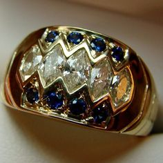 #18ktgold #marquise #diamond and #sapphire super comfortable #ring. For right now and for always. #customdesign #jewelry #remyrotenier #jewelryartist