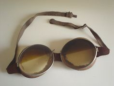 WW1 Goggles pilot Aviation Flight Bi Plane vintage motoring veteran racing old | eBay
