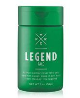 Pure Romance - Shave Legend Men's Scented Shaving Cream A true warrior never lets you see him sweat. He's calm, collected, and unruffled. Keep your cool with Talc, the fresh-scented powder that helps you stay clean, dry, and confident—just like a legend should be.