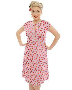 b704ecdd8286 Lindy bop wardrobe · 'Juliet' Raspberry Print Tea Dress 1940s Fashion  Dresses, 1940s Dresses, Vintage Inspired