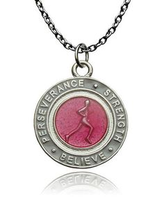 Take a look at this Pink Runner's Creed Pendant Necklace on zulily today!