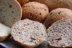 One of the best low-carb, GF bread recipes ever! Best as a load, the balls can get a little too crunchy after a day.