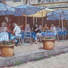 Lunch at Doyle's Pastel painting by Ann Nightingale