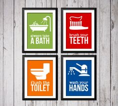 Kids Bathroom Art Prints Bathroom rules by RainbowsLollipopsArt Kids Bathroom Art, Bathroom Posters, Bathroom Rules, Bathroom Prints, Bathrooms, Home Decor Trends, Home Decor Inspiration, Rainbow Lollipops, Bath Art