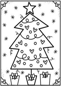 Christmas Arts And Crafts, Cool Christmas Trees, Preschool Christmas, Christmas Activities, Christmas Colors, Kindergarten Classroom, Flower Coloring Pages, Colouring Pages, Adult Coloring Pages