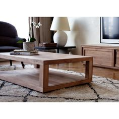 Ethnicraft duplex coffee table and pure tv cupboard