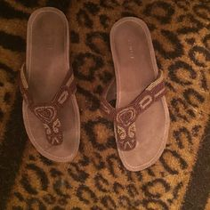 Nine West sandals Beaded Nine West sandals. Previously loved but still great condition. Nine West Shoes Sandals