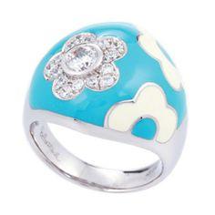 Capri Jewelers Arizona ~ www.caprijewelersaz.com Belle Etoile Fleur Enamel Ring
