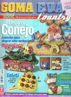 Revistas de manualidades Gratis: Manualidades country en goma eva