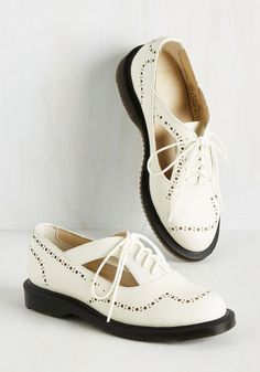 When is it best to sport these ivory flats by Doctor Martens? Any time you choose, really! A better question is, when isn't it an excellent opportunity for flaunting the edgy cutouts, jazzy perforations, and durable black soles of these handsome leather pair? We dare to assert that there isn't one!