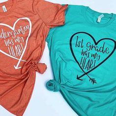 Teacher Shirts T-Shirts Preschool Shirts, Kindergarten Teacher Shirts, Teaching Shirts, Teacher T Shirts, Teacher Wear, Teacher Style, Teacher Outfits, Teacher Gifts, School Shirt Designs