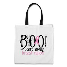 BOO! Scare Away Breast Cancer Tote Bag