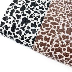 Cow Print Chunky Glitter Fabric Sheets Cow Print, Animal Print Rug, Glitter Fabric, Day Up, All Design, Craft Supplies, Bows, Colours, Embroidery