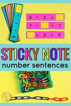 Just add sticky notes to create this hands-on math center! We use these addition number sentences and Making Ten cards as warm-ups for Guided Math. From Positively Learning #guidedmath #numbercenters