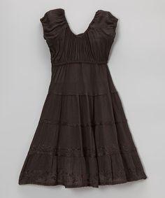 Love this Black Scoop Neck Dress - Toddler & Girls by India Boutique on #zulily! #zulilyfinds