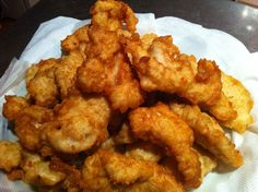 Soda Batter Chicken pieces. So tasty and so easy. See recipe below!