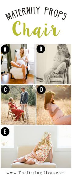 Maternity Poses Using a Chair