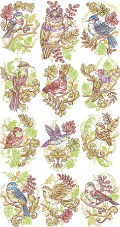 Autumn Baroque Collection | Machine Embroidery Designs By Sew Swell