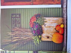Beautiful display of fall plants for front porch//love
