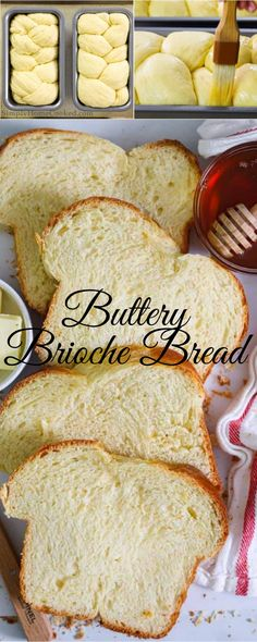 This buttery brioche bread recipe is so fluffy it practically melts in your mouth. Serve it warm or toasted with salted butter on top. #bread