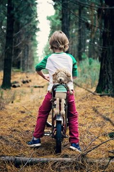 reminds me of my eldest brother: the inventing science geek/adrenaline seeking, wise ass :) He couldn't be seen without his bike and pack full of gadgets and loved the woods