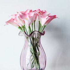 Schöne Farbe Calla Lilien Brauthochzeits Blumenstrauß Kopf Latex Real Touch Künstliche Blumen Decor
